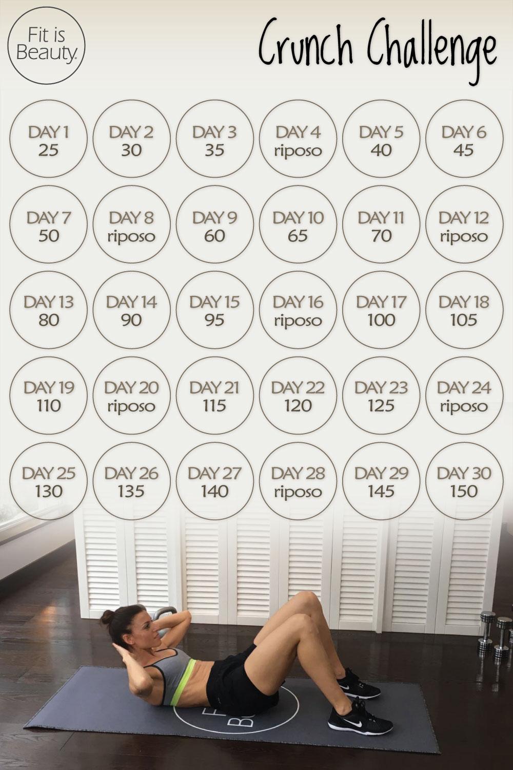 sfida di 30 giorni per dimagrire laddome